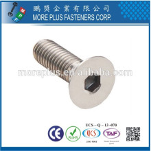 Made in Kaohsiung Taiwan Stainless Steel Grade 8.8 M4 Hexagon Socket Head Cap Screw