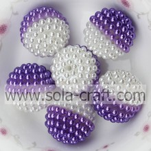 19MM Assorted Decorative Imitation Round Pearl Purple Color