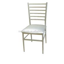 Cadeira de jantar moderna com almofada, cadeira de restaurante, tubo de aço