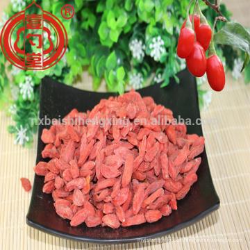 Embalagem pequena do saco do goji 280 das bagas zhongning secadas da ningxia para a venda