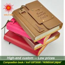 Carnet en cuir à la mode personnalisé de bonne qualité, cuir de mode à la mode, carnet en cuir fait sur commande