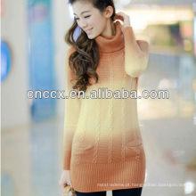 12STC0701 angorá lã mais recente projeto camisola de inverno mulheres