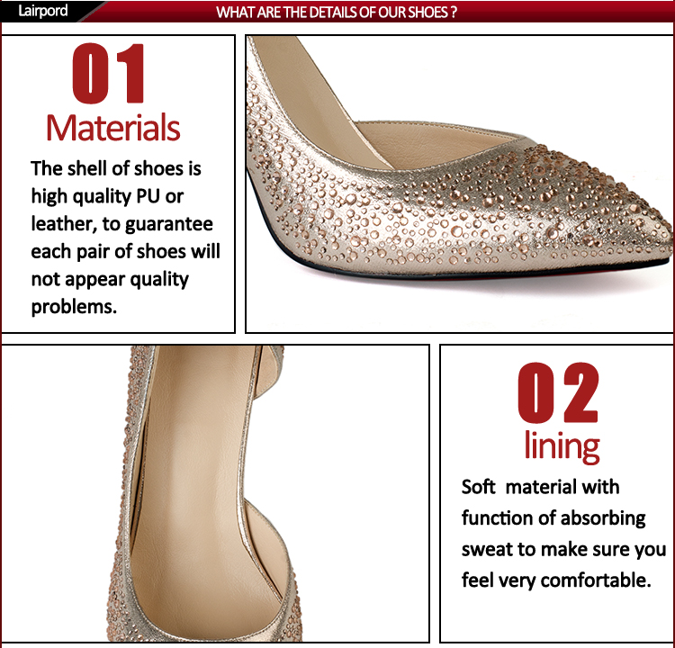 big size self covered heel diamond sequins fashion shoes