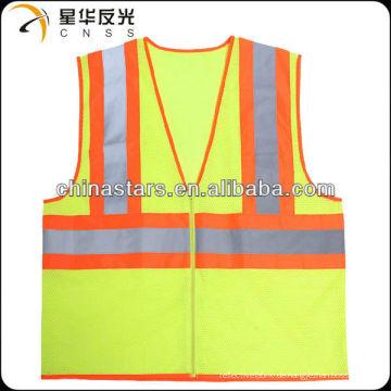 EN471 gelbe hohe Sichtbarkeit Warnung reflektierende Sicherheitsweste