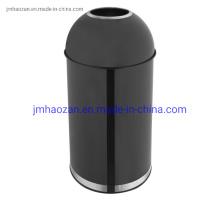 Cubo de basura de acero inoxidable de alta calidad con tapa de embudo, cubo de basura