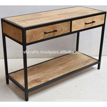 industrial console drawer table