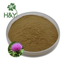 Silymarine en poudre d'extrait de chardon-Marie de haute qualité en gros