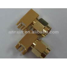 sma male right angle pcb mount rf connector