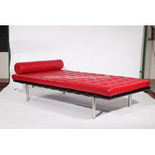 Red Barcelona Leather Bed