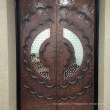 Porte de luxe en cuivre Alminium