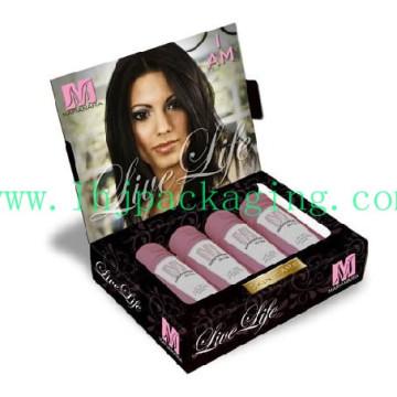 Caja de papel de regalo de presentación de lujo de embalaje de cartón para cosméticos