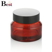 Kosmetikverpackung 15g rot schräg Schulterglas Sahneglasbehälter