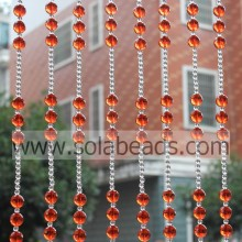 The Idea of 20MM&8MM Wire Acrylic Beaded Garland Trimming