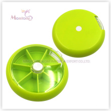 9*9*2.2cm Travel Portable Medicine Organizer, Plastic Storage Rotating Weekly 7 Days Pill Box
