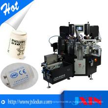 Máquina automática de impressão de almofadas para lâmpada LED