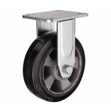 H17 Roulement à billes double type à service fixe type caoutchouc sur roulette à roulement en aluminium