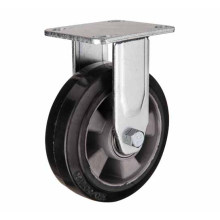 H17 Heavy Duty Type Double Ball Bearing Fixed Type Rubber on Aluminum Core Wheel Caster