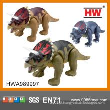 Novo Item bateria operado brinquedos de dinossauro de plástico a pé