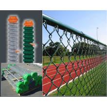 PVC de aluminio galvanizado cerca de la cadena de la cadena de seguridad