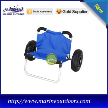 multifunction beach trolley for fishing, blue kayak trolley with two balloon wheels