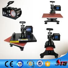 Machine de transfert de presse de chaleur de bras oscillant de certificat de la CE