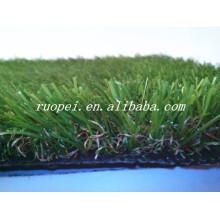 Barato 25mm efeito de memória 3 cores tapete de grama sintética para decoração de jardim