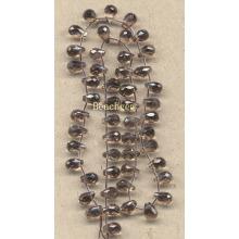 Granos de cuarzo ahumado piedras preciosas sueltas