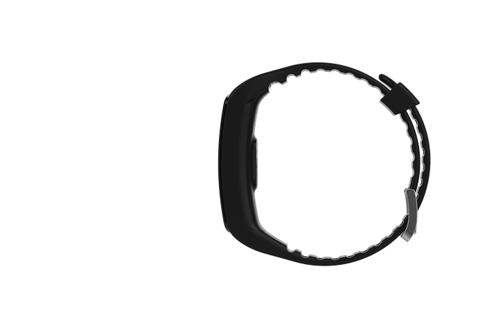 Black NFC Heart Rate Bracelet