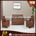 China factory direct sale low price office furniture PU leather sofa design