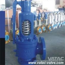 Válvula de seguridad de brida con brida RF de acero fundido con resorte