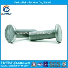 En Stock Haute qualité ASME / ANSI B 18.1.1-2006 Rivets à tête plate Rivets solides à tête plate en acier inoxydable