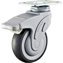 Plastic Medical Caster with Total Brake