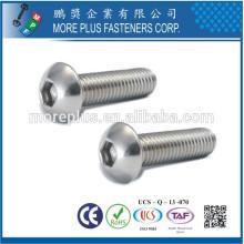 Hecho en Taiwán Acero inoxidable ISO7380 Hex cabeza de casquillo Cabeza M6 Botón de cabeza Tornillo