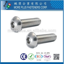 Made in Taiwan Stainless Steel ISO7380 Hex Socket Head Cap M6 Button Head Screw