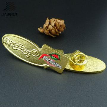 Подарок Промотирования Покрынный Золотом Изготовленный На Заказ Штырь Значка Эмблемы Металла Название