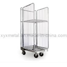 Recipiente de rolo de malha de metal metálico exportado Euro Style
