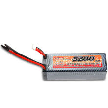 5,200mAh Lithium Polymer Battery for RC Car, with 30C Discharge Current and 11.1 Voltage