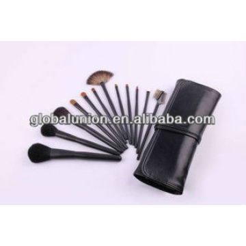 12 pcs fashion makeup brush set animal hair