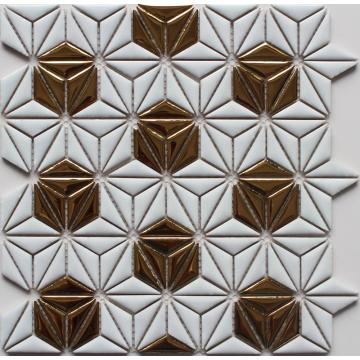 Flower+Pattern+Ceramic+Mosaic+Tile