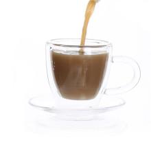Borosilicato mini vidro conjunto de xícara de chá