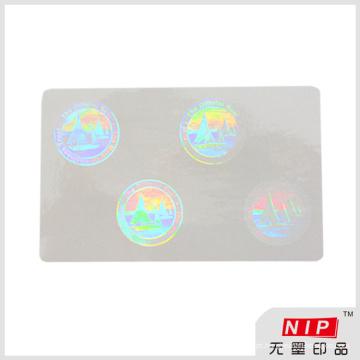 Sobreposição de segurança holograma adesivo adesivos com tamanho personalizado