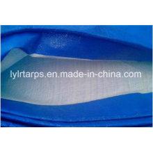 China PE Tarpaulin, Finished Plastic Tarpaulin Blue/White with Eyelets and Black Corners