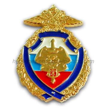 La insignia grabada a mano de la policía hecha de metal (GZHY-BADGE-002)