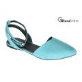 Женская мода Slingback указал пальцем ноги повседневная обувь балета