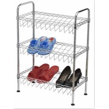 Modern Furniture DIY Knock Down Adjustable Metal Wire Shoe Rack