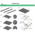 Decking en bois composite durable anti-UV WPC
