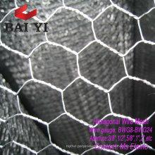 Malha de arame hexagonal de aço inoxidável