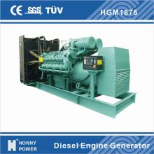 Centrale électrique à générateur basse vitesse 1500kw / 1875kVA 1000rpm 50Hz (HG1875)