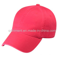 100% algodão sarja plain Washed Baseball cap Sport (TRNB025)