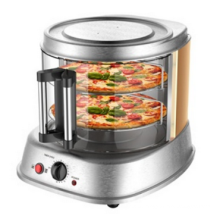 2 Layers Fashion Design Glass Door Pizza Maker